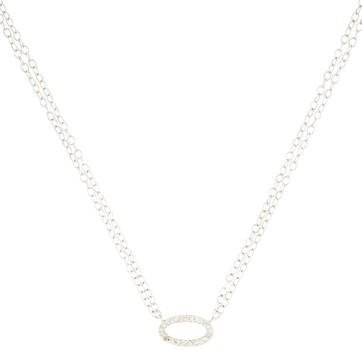 AdinaAdina Reyter Diamond Oval Pendant Necklace