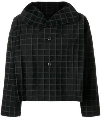 Issey Miyake cropped check jacket