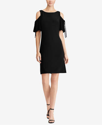 American Living Cold-Shoulder Fit & Flare Dress