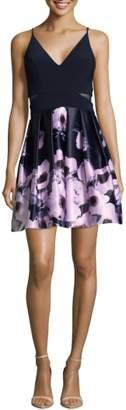 Xscape Evenings Floral Skirt Party Dress