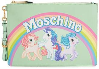 Moschino Green My Little Pony Leather Pouch