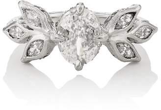 Cathy Waterman Women's Leaf Ring