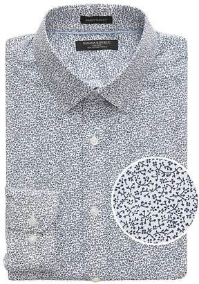 Banana Republic Grant Slim-Fit Non-Iron Floral Dress Shirt