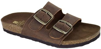 White Mountain Leather Slide Sandals - Helga