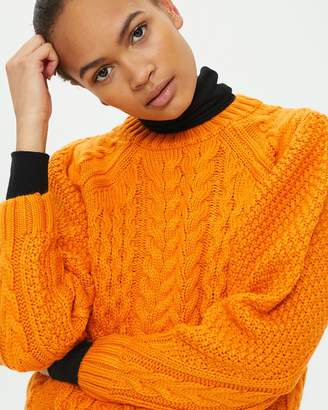 Topshop Cable Knit Jumper