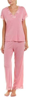 Natori Zen Floral 2Pc Pajama Pant Set