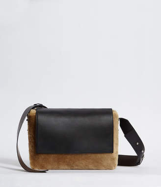 AllSaints Versailles Lea Large Leather Shoulder Bag
