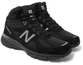 New Balance 990v4 Suede and Mesh High-Top Sneakers