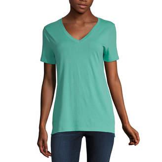 0e1eee339b7abc A.N.A Womens V Neck Short Sleeve T-Shirt