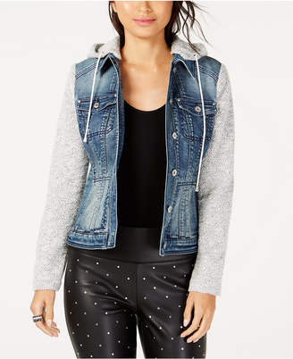 INC International Concepts I.N.C. Denim Slub Knit Sleeve Jacket, Created for Macy's