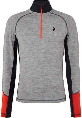 Peak Performance Slim-Fit Merino Wool-Blend Half-Zip Base Layer