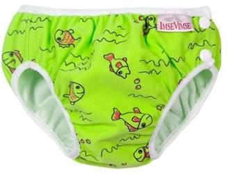 Imse Vimse Swim Diapers - Medium - Green Fish by