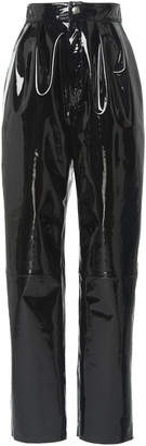 Giambattista Valli Patent Leather High-Rise Pants