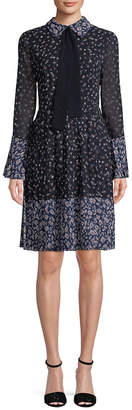 Mikael Aghal Ditsy Floral Print Shirtdress
