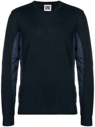 Les Hommes Urban contrasting panel sweater