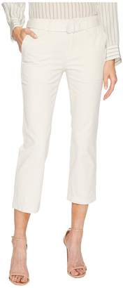 Vince Belted Crop Flare Pants Women's Clothing