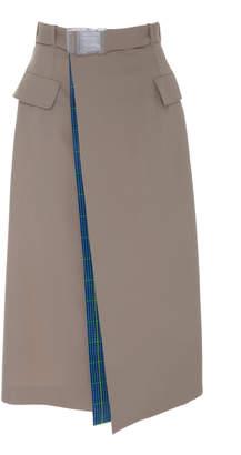 Maison Margiela Belted Asymmetric Midi Skirt