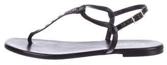 Saint Laurent Leather Flat Sandals