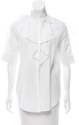 Givenchy Ruffle-Trimmed Button-Up Top