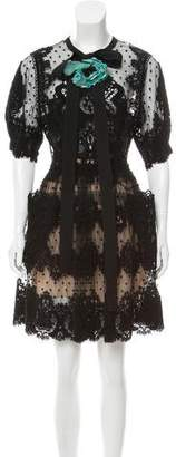 Elie Saab Semi-Sheer Lace Dress