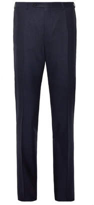 Canali Navy Slim-Fit Stretch-Wool Trousers