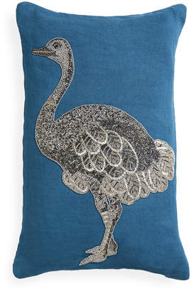 Jonathan Adler Right Facing Zoology Ostrich Throw Pillow