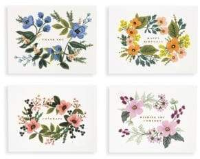 Rifle Paper Co. Set of Eight Bouquet Assorted Cards