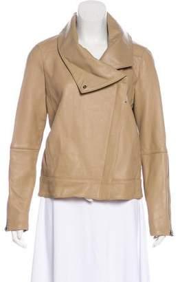 Helmut Lang Leather High Collar Jacket