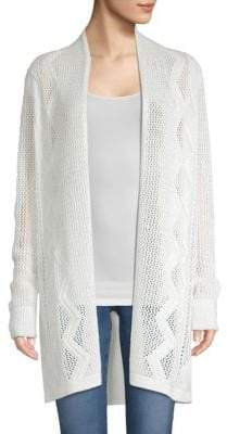 TSE x SFA Cable Knit Open Cardigan