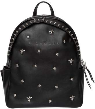 John Richmond Studded Faux Leather Backpack