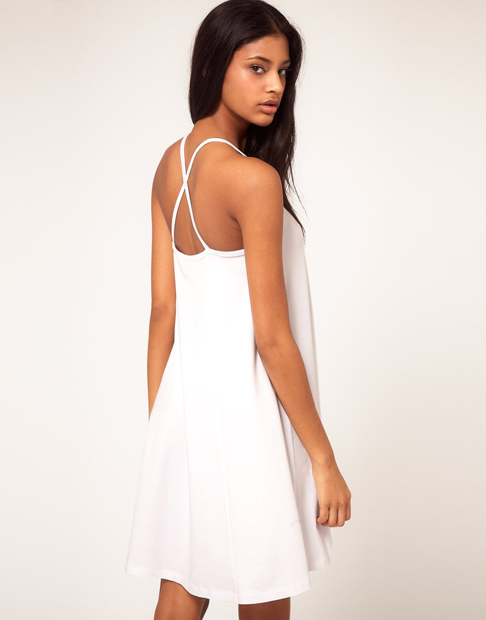 Asos Summer Dress with Strappy Back & Swing Hem