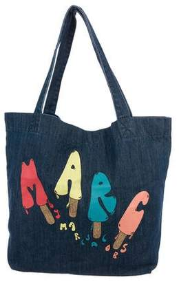 Marc by Marc Jacobs Denim Printed Tote
