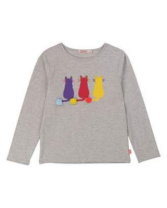 Billieblush Long-Sleeve Cat Graphic Tee, Size 4-12