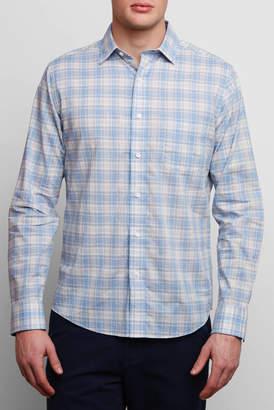 Faherty Ventura Blue Coral Button Down Shirt
