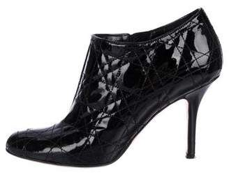 Christian Dior Cannage Patent Leather Booties
