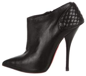 Christian Louboutin Leather Pointed-Toe Booties