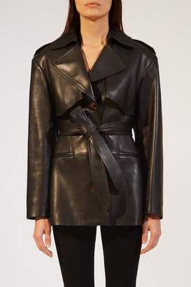 KHAITE The Billy Trench in Black Leather