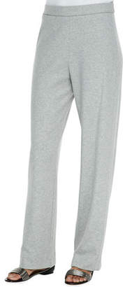 Joan Vass Cotton Interlock Pants, Petite