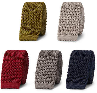 Charvet Set Of Five 4.5cm Knitted Silk Ties