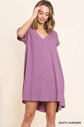 Umgee USA Lilac T-Shirt Dress