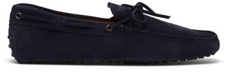 Tod's Gommino Suede Driving Shoes - Mens - Navy