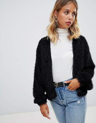 New Look Faux Feather Cardigan