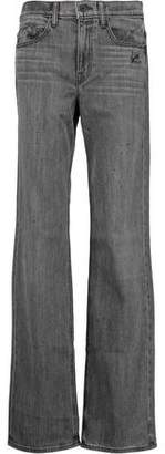 Helmut Lang Distressed High-Rise Bootcut Jeans
