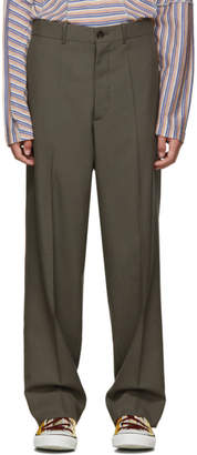 Marni Grey Tropical Wool Straight Trousers