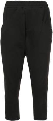 Baja East drop-crotch cropped sweatpants