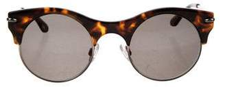 Roland Mouret Tortoise Shell Round Sunglasses