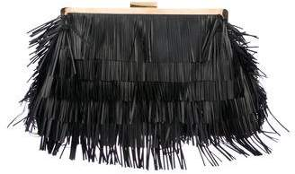 Stella McCartney Oversize Vegan Leather Frame Clutch