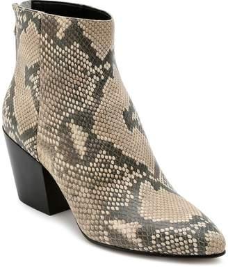 Dolce Vita Women's Almond Toe Snakeskin-Embossed Leather Booties