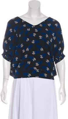 Diane von Furstenberg Oversize Silk Blouse
