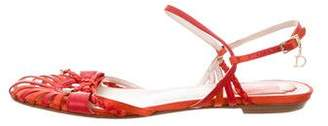 Christian Dior Cage Flat Sandals